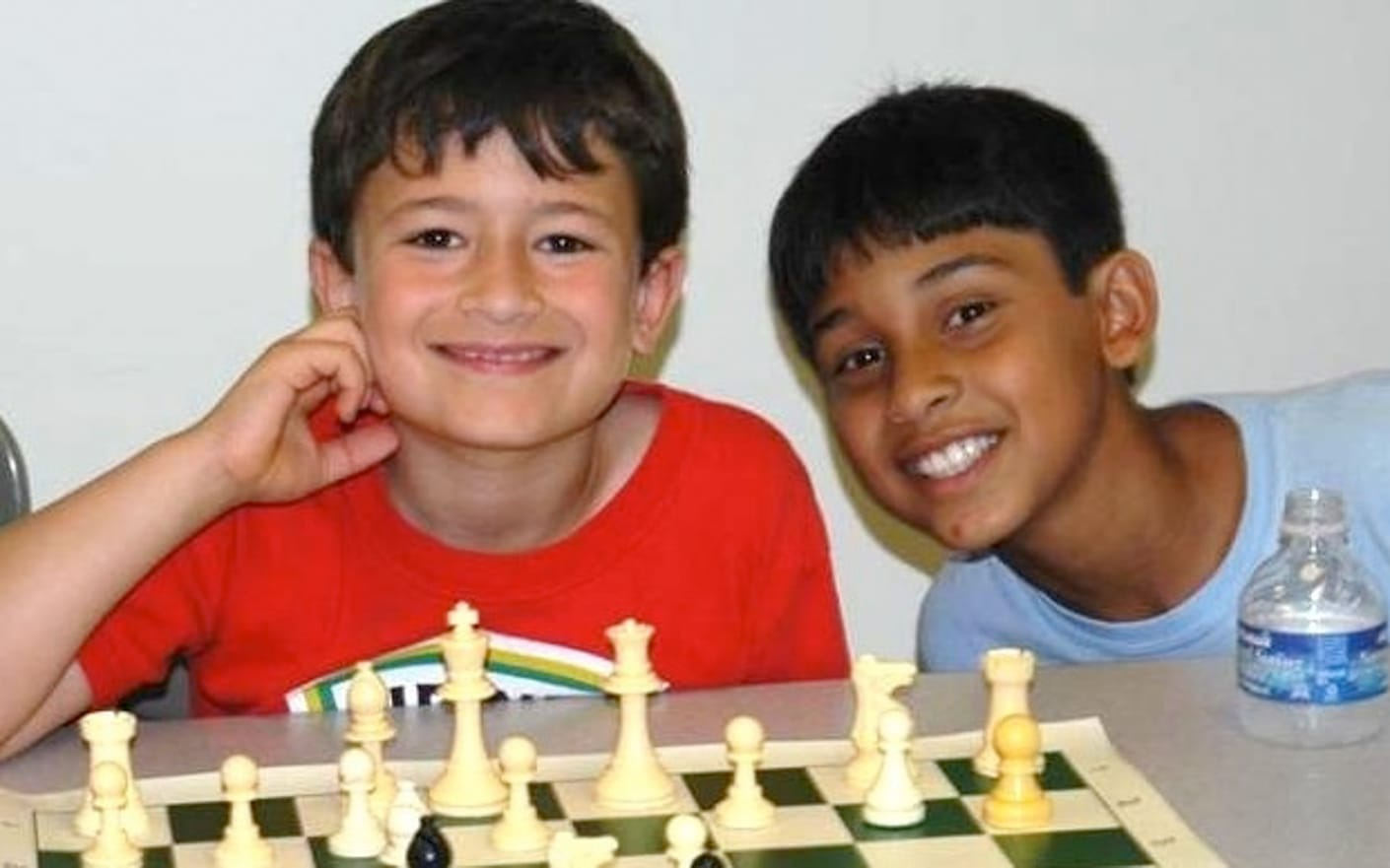 Campers playing chess
