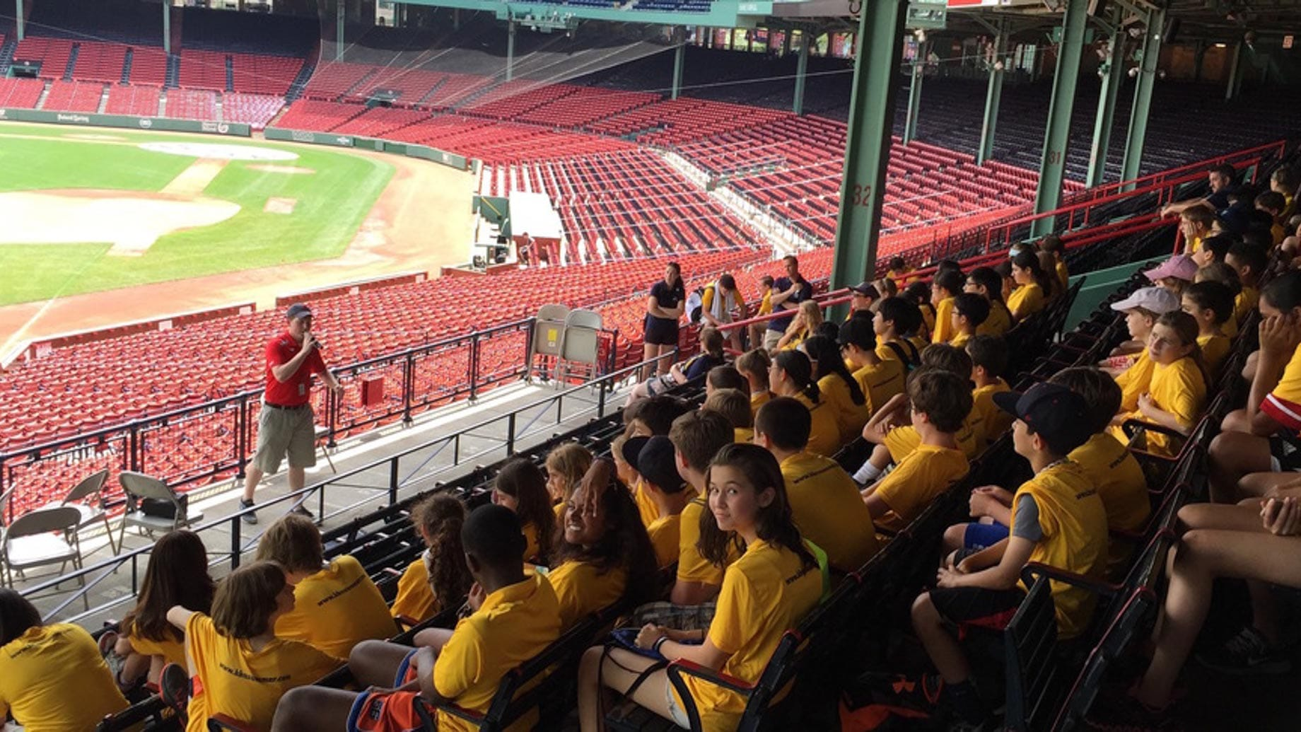 summer campers at red sox stadium