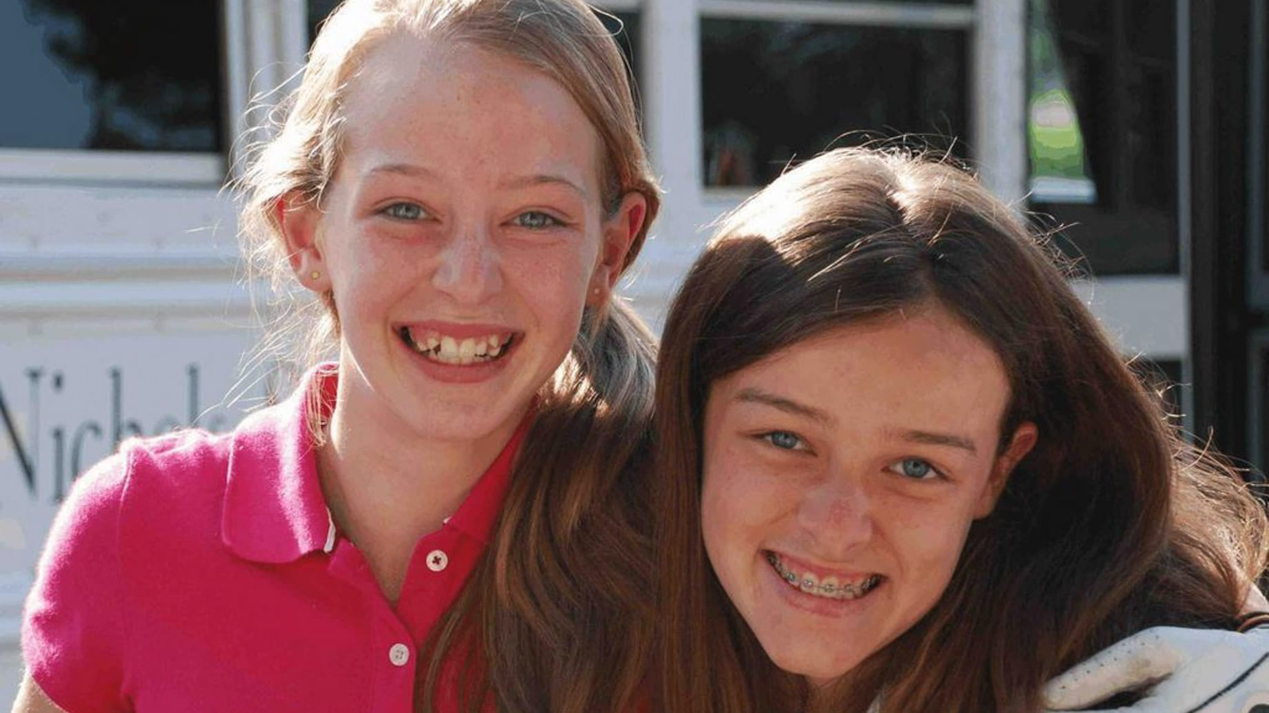 two girls smiling at summer camp