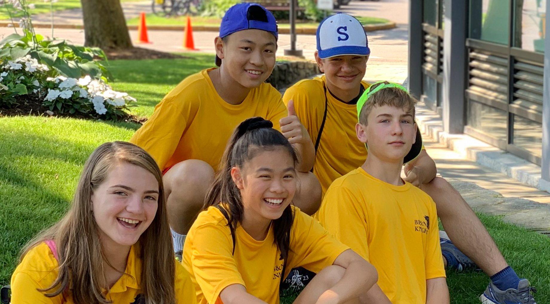 summer campers smiling